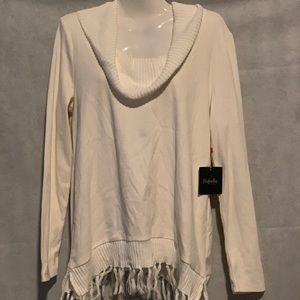 RAFAELLA LONG SLEEVES CREAM COLOR BLOUSE SIZE M